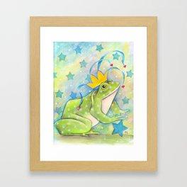 Whimiscal Bull Frog Framed Art Print