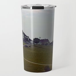 Scenery with clouds, a hill and nothing particular | landscape photography Travel Mug