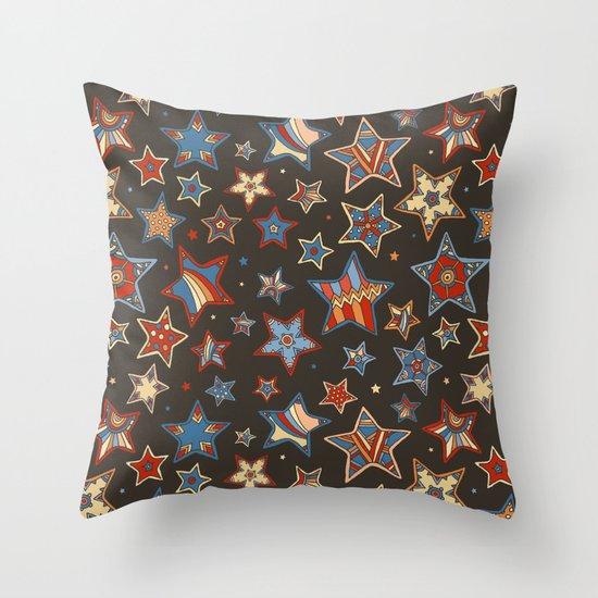 Doodle Stars Throw Pillow