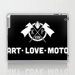 KP Design : Art - Love - Moto Crest Logo Laptop & iPad Skin