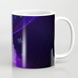 Violet Star Abstract Background Coffee Mug