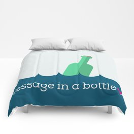 Message in a bottle Comforters