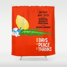 Sukkot Poster Shower Curtain