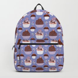 Baked Cupcakes Food Vector Pattern Backpack