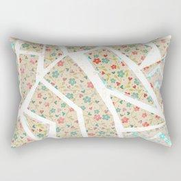 Floral Wallpaper Mosaic Rectangular Pillow