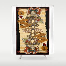 'Cheshire' (Alice in Wonderland Steampunk Series) Shower Curtain