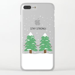 love keeps us strong Clear iPhone Case