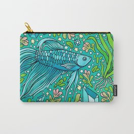 Betta Aquamarine | Magical Pet Fish Painting Carry-All Pouch