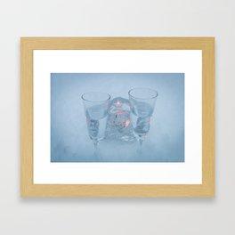 Vodka on ice Framed Art Print