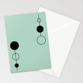 Simple Geometrics - Circles on a Line Stationery Cards