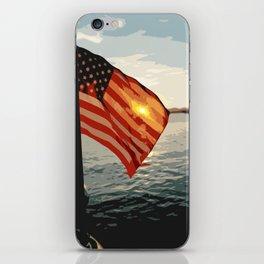 Patriot's Sunset iPhone Skin