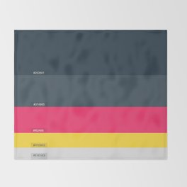 Palette Color hex Throw Blanket