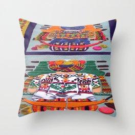 Guatemalan Alfombras Throw Pillow