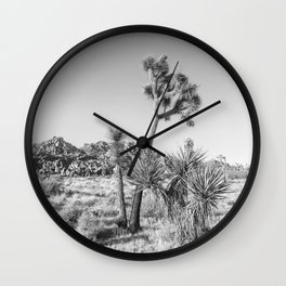 Minimalistic Joshua Tree National Park | Monochrome Wall Clock