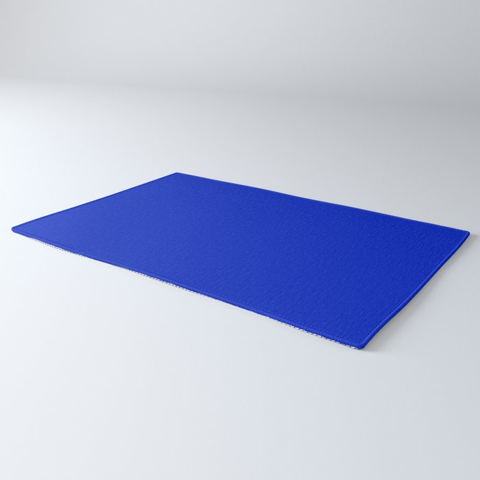 Solid Deep Cobalt Blue Color Rug