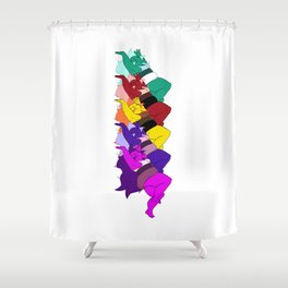 Amethyst Falling in a Cool Color Palette Shower Curtain