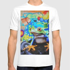 Peace Frog Mens Fitted Tee MEDIUM White