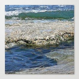 A Blue and Green Summer Sea Canvas Print