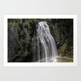 Narada Falls with a Rainbow Art Print