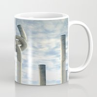 industrial Mugs featuring Industrial Brezel by CrismanArt
