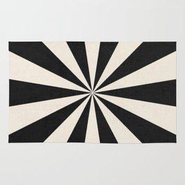 black starburst Rug