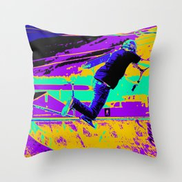 Tail Whip Tryout  - Stunt Scooter Throw Pillow