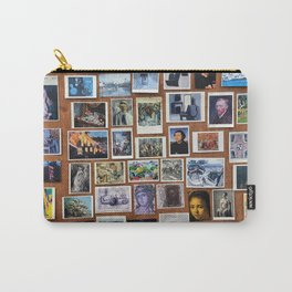 Wooden Postcard Wall Carry-All Pouch