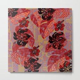 On Fire Kona Tropical Floral Metal Print
