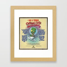 """""""I Was A Teenage Caffeine Case From Outer Space"""" Movie Poster Framed Art Print"""