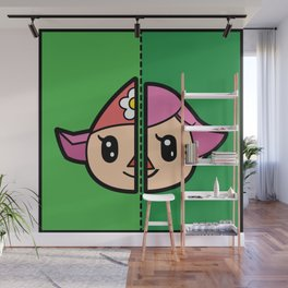 Old & New Animal Crossing Villager Female Wall Mural