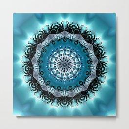 Mandala Blue 5 Metal Print