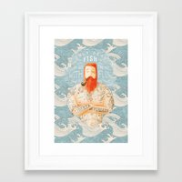 bear Framed Art Prints featuring Sailor by Seaside Spirit