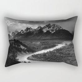 Ansel Adams The Tetons and the Snake River Rectangular Pillow
