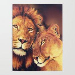 Lions Soulmates Poster
