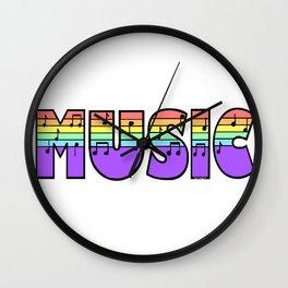 Pastel Music Wall Clock