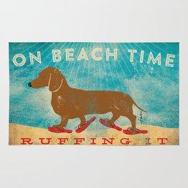 Dachshund Beach Time by Stephen Fowler Rug