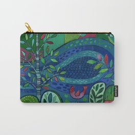 Bird by the Pond Carry-All Pouch