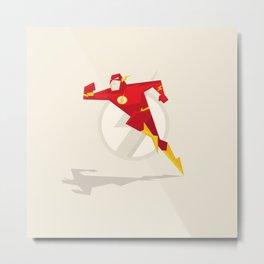 Scarlet Speedster Illustration Metal Print