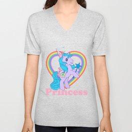 g1 my little pony princess sparkle Unisex V-Neck
