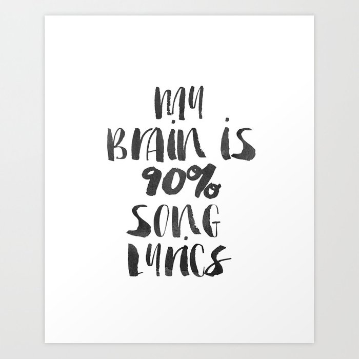 """Funny quote """"My Brain Funny Wall Art Bedroom Decor Funny ..."""