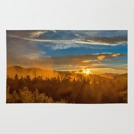 Misty Gold Mountain Sunset Rug