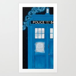 Magic Blue Box Art Print