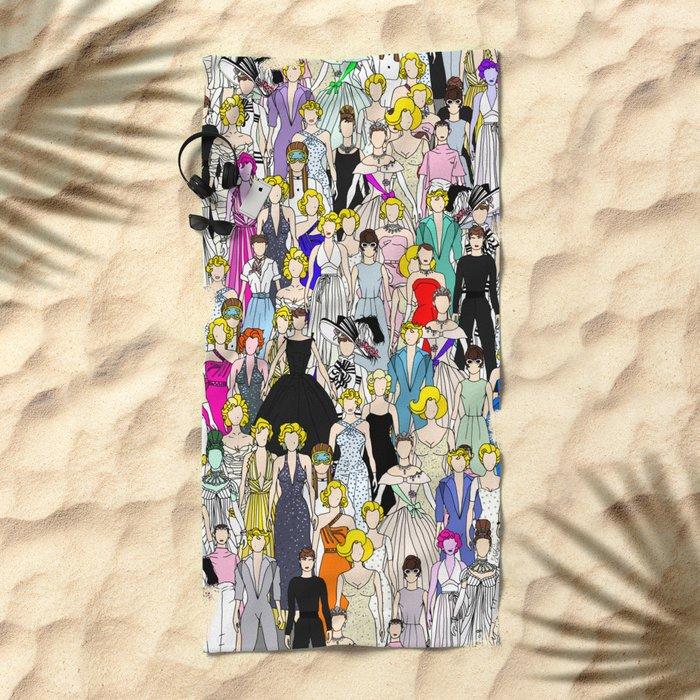Audrey Marilyn Punks in Tokyo Beach Towel