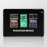 radiohead iPad Cases featuring Radiohead Pedals Bedroom Rockstar  by James Peart