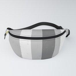Asymmetrical Multi Value Grey Flecked Jagged Stripes Fanny Pack