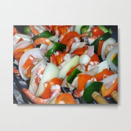 Shrimps Metal Print