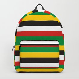 Dominica guyana flag stripes Backpack