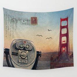 GOLDEN GATE RAIN - San Francisco Wall Tapestry