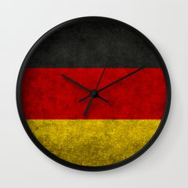 Flag of Germany - Vintage version Wall Clock