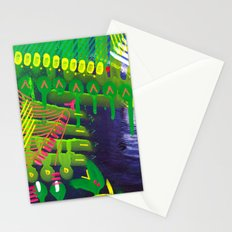 Wave green Stationery Cards